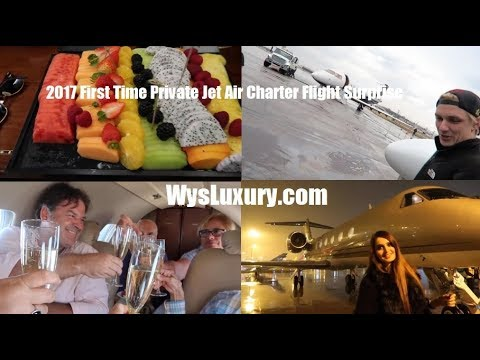 2017 First Time Private Jet Air Charter Flight Surprise WysLuxury Aircraft Plane Aviation Rental