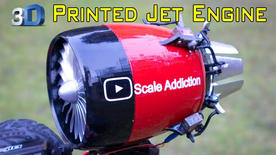 3D printed Jet Engine with working Vector Thrust/ Jet Engine on rc Arrma Kraton car/Scale Addiction