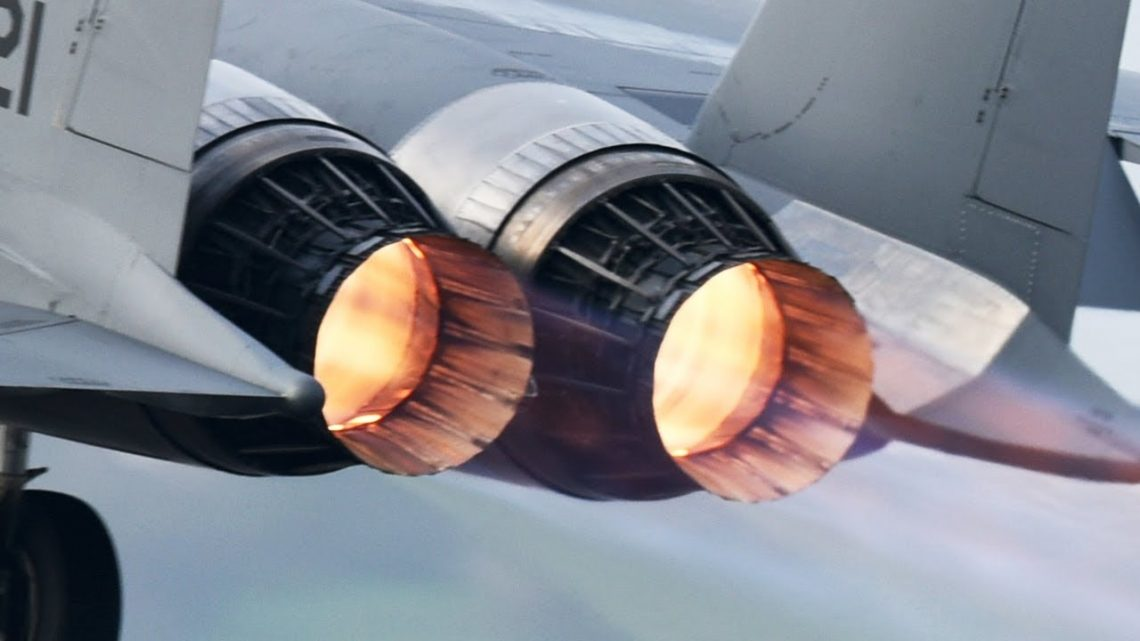 Awesome! F-15 Jet Engine at Max Afterburner Power