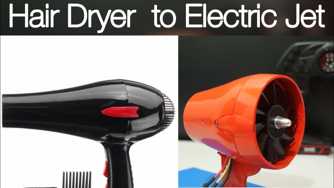 How to Make Electric Jet From Hair Dryer With Brushless Motor   ELECTRIC JET ENGINE