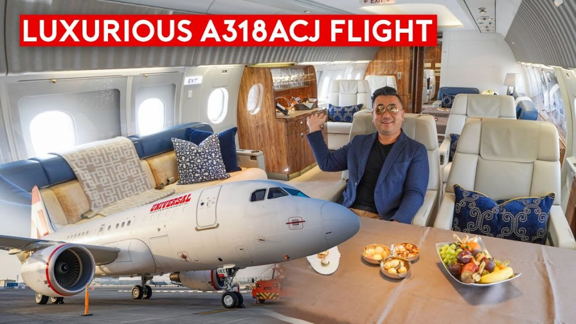 What's It Like to Fly Private? Flying Luxurious Airbus Corporate Jet ACJ318