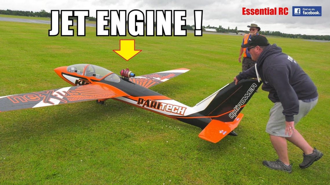 JET ENGINE ON A GLIDER. THAT'S RIDICULOUS ISN'T IT? EH, APPARENTLY NOT !