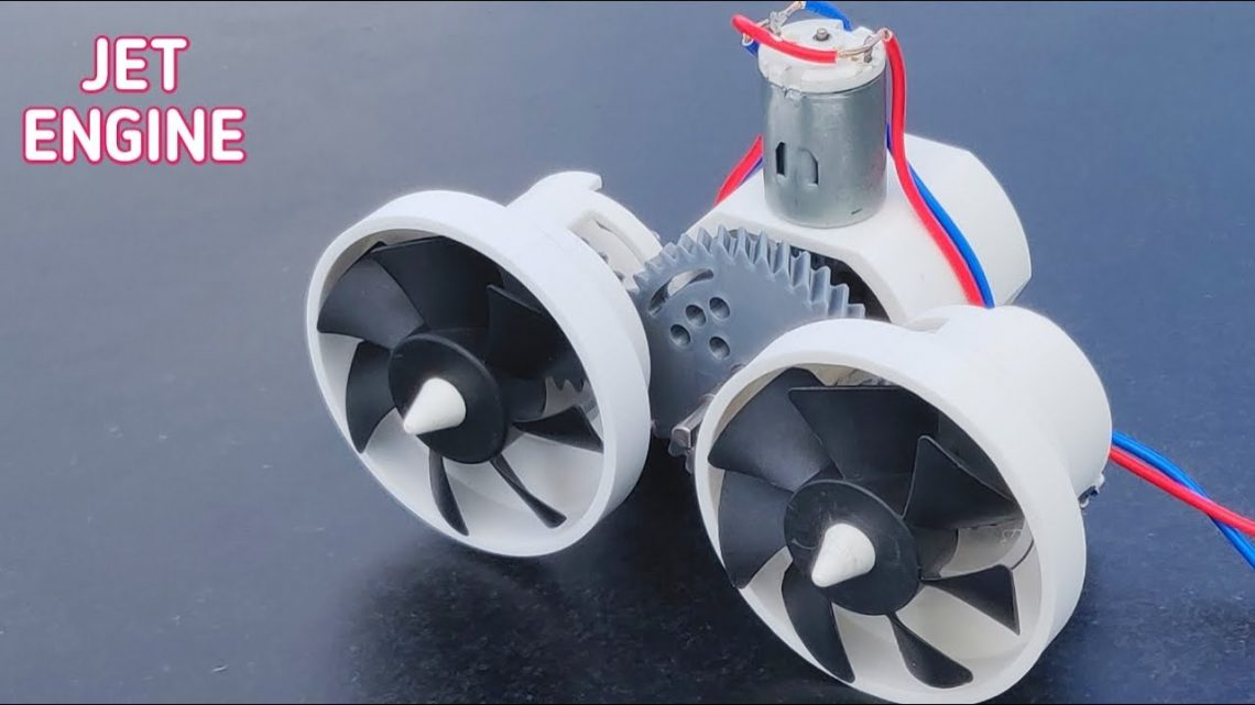 Powerful Jet Engine Using Twin Propeller
