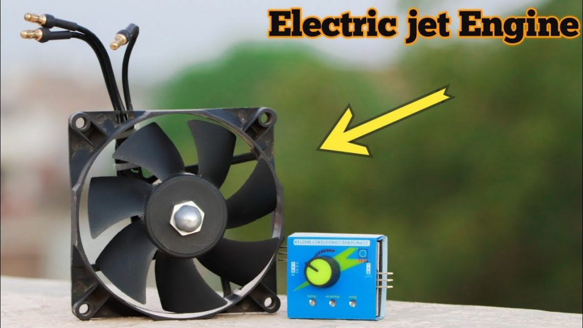 Make a Electronic jet engine using old CPU fan.