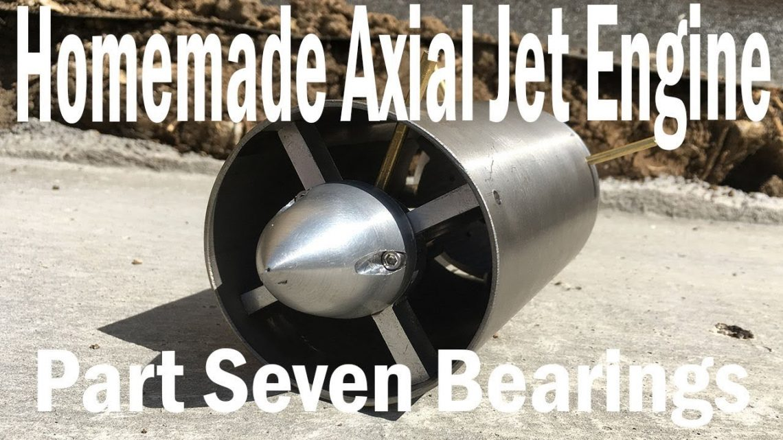 Homemade Axial Jet Engine Part7 – Pressing Bearings and Burners Fail!