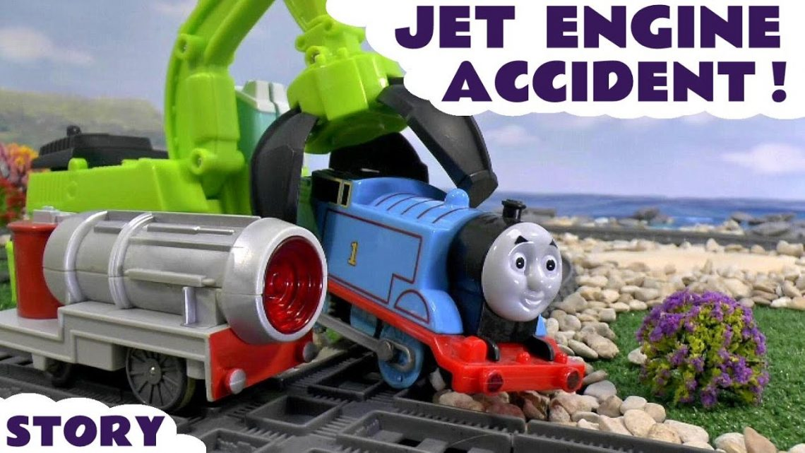 Thomas & Friends Jet Engine Accident Minions Play Doh Diggin Rigs Rescue Toy Train Trackmaster Story