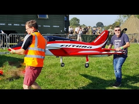 VICTORY SHOW COSBY UK – GAS TURBINE RC MODEL SPORTS JET DISPLAY (REAL JET ENGINE) – 2018