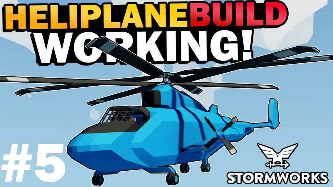 Working Jet Engine & Vertical Lift Off!  –  HeliPlane Build  –  Stormworks: Build and Rescue