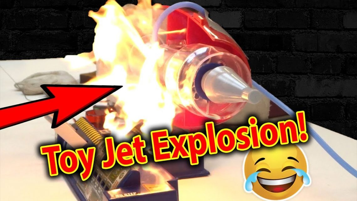 BOOM!!! Toy Jet Engine Explodes – FIRE @ 55,000rpm