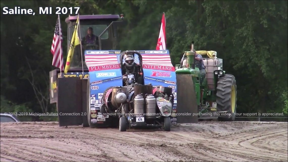 Jet Engine Powered Pulling Tractor Pulls At Saline And Hillsdale, MI 2017
